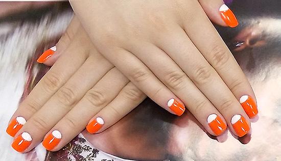 Оранжевые ногти гель лак