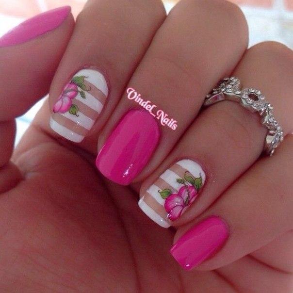 Дизайн ногтей малинового цвета фото