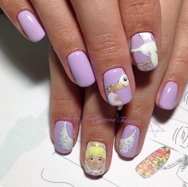 Рисунки на ногтях для беременных фото 17