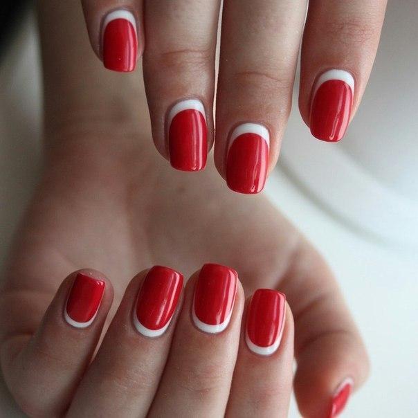 Дизайн ногтей с красным гелем