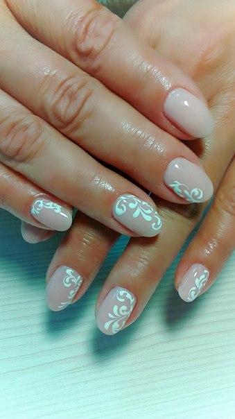 Маникюр овальные короткие ногти дизайн 2017 гель лак