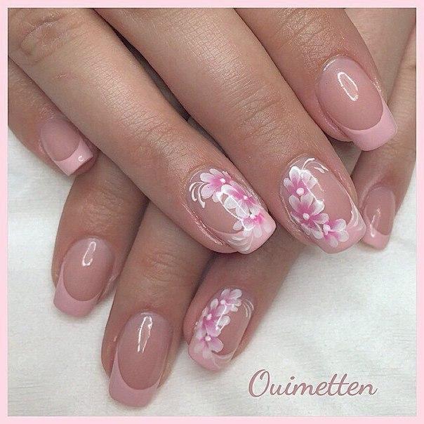 Розовый дизайн ногтей 2017 новинки френч весна лето омбре