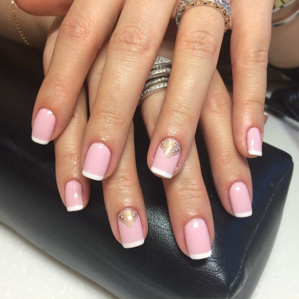 фото френч белый с розовым