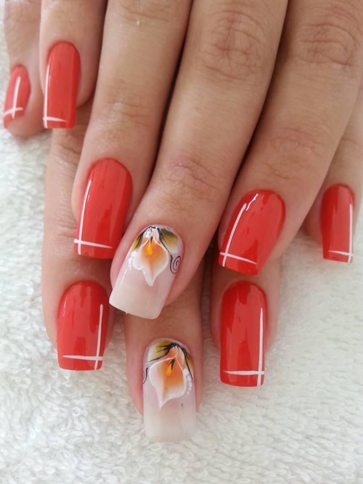 Дизайн ногтей в красном цвете новинки 2016