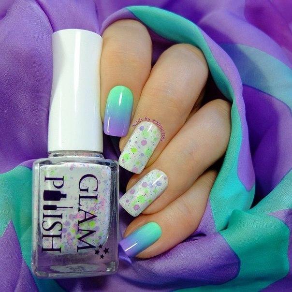 женщинам тонкими ногти дизайн мятный с сиреневым фото этой статье расскажем