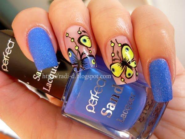Гель лак бабочки цветы лето