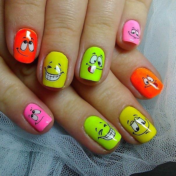 Фото яркий дизайн на ногтях