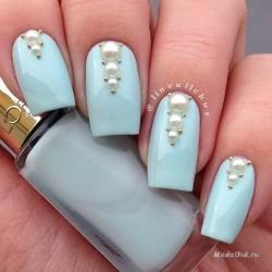 Голубые ногти фото