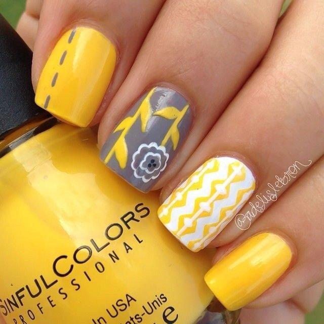 Дизайн коротких ногтей гель-лаком Make-Style 744