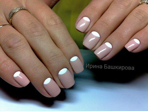 Фото белый ногти дизайн 190