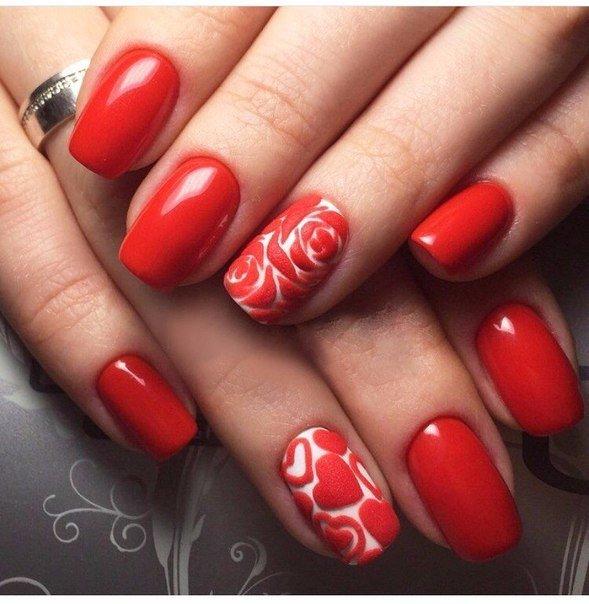 Шеллак с красным цветом дизайн