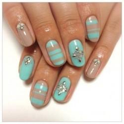 Дизайн ногтей фото в бирюзовом цвете