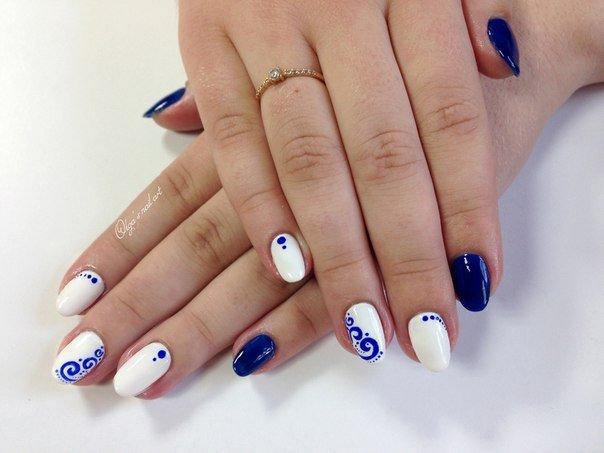 Гжель на ногтях Маникюр4ик. ру - 2016 74