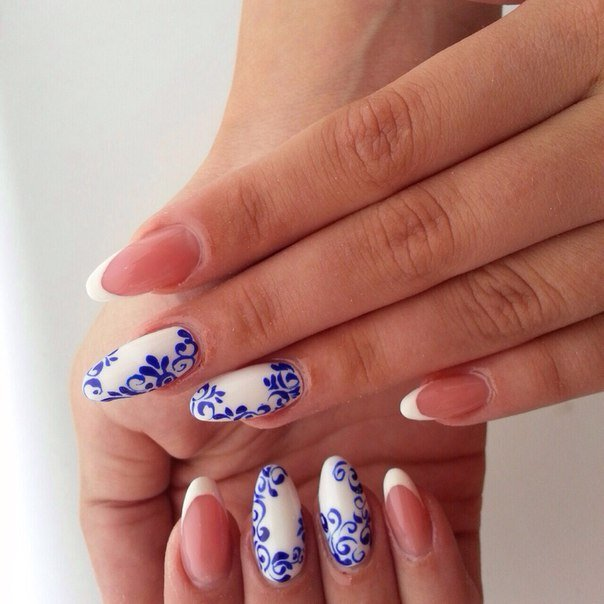 Красивый маникюр фото на овальные ногти