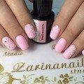 Розовый 3d маникюр