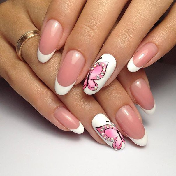Beautiful French Nail Art Designs: фото дизайна