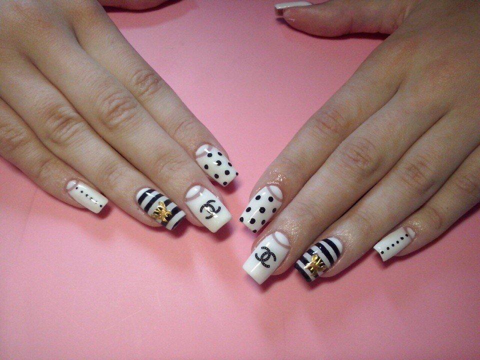 Идеи свадебного маникюра на короткие ногти фото