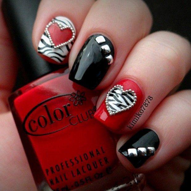 Дизайн ногтей фото синий с черным