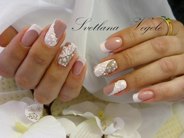 френч на ногтях свадебный фото 2015 новинки