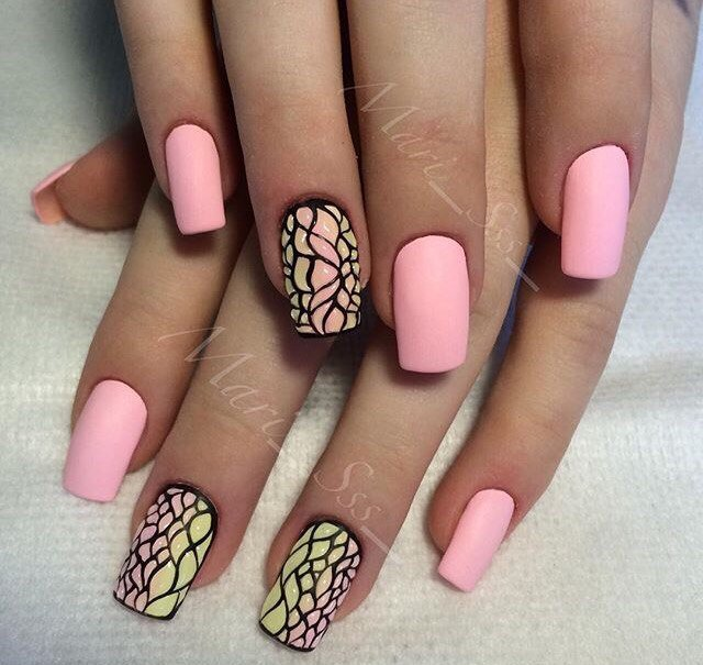 Гель лак на квадратные ногти дизайн фото