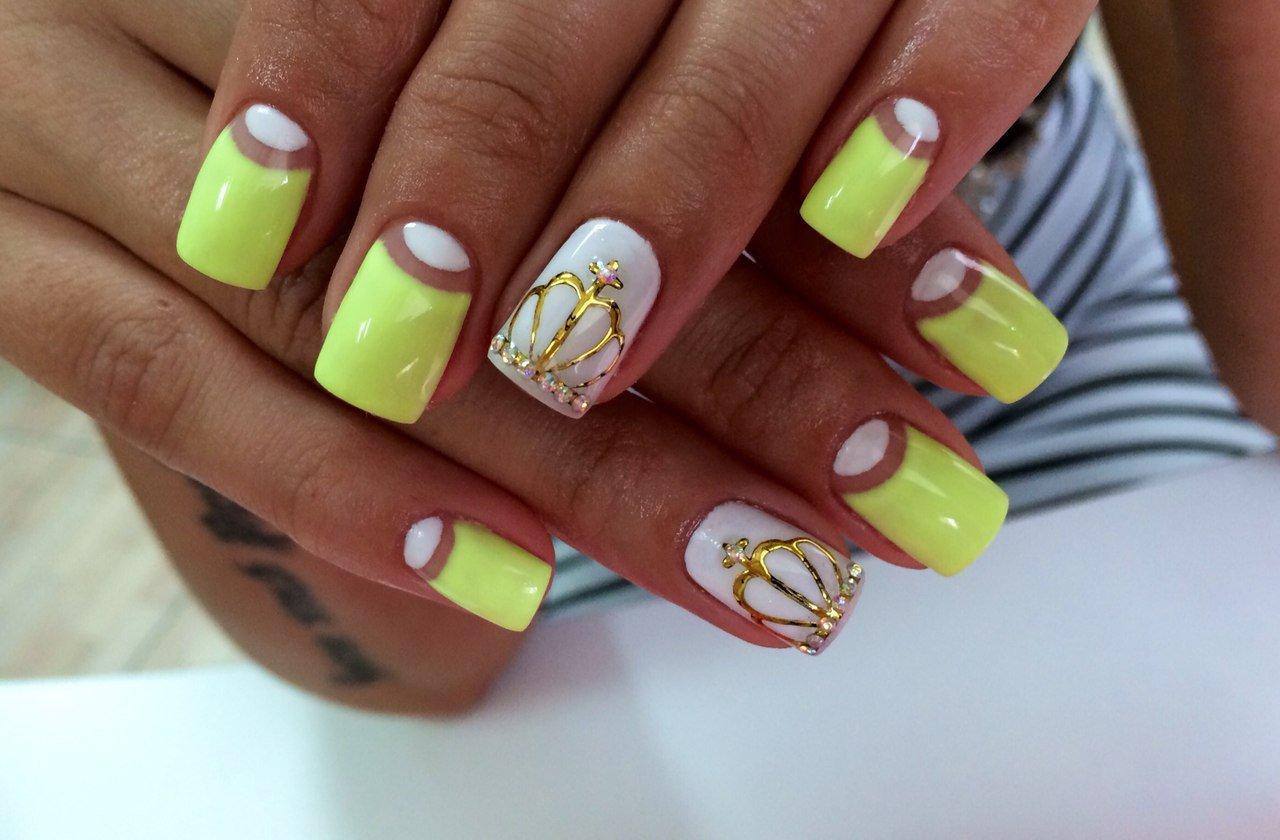 Ногти дизайн лимонные