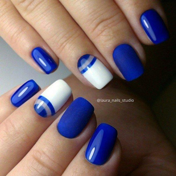 Ногти гель лак синие