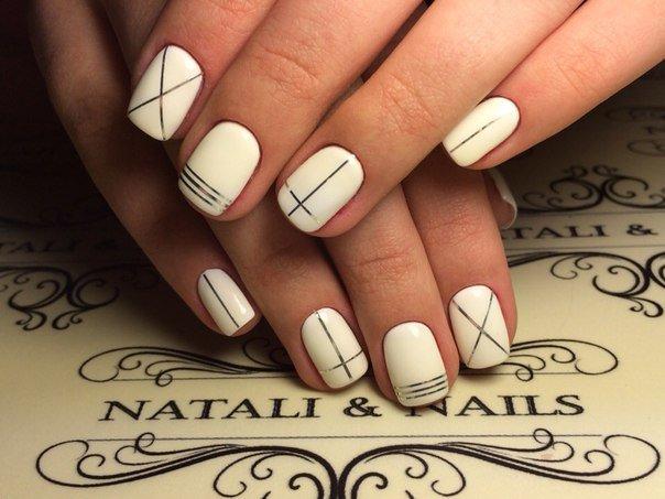 дизайн ногтей со скотч лентой фото