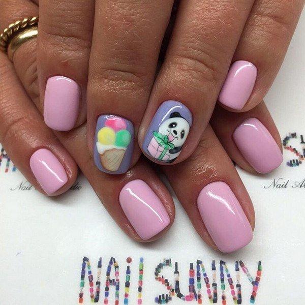 Дизайн ногтей с пироженками фото