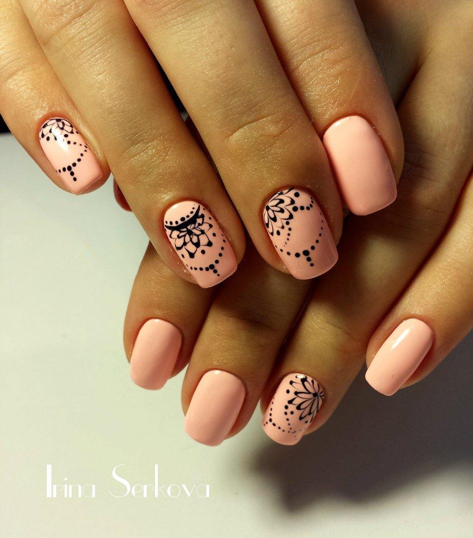 ногти персикового цвета фото