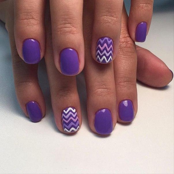Шеллак фиолетовый дизайн