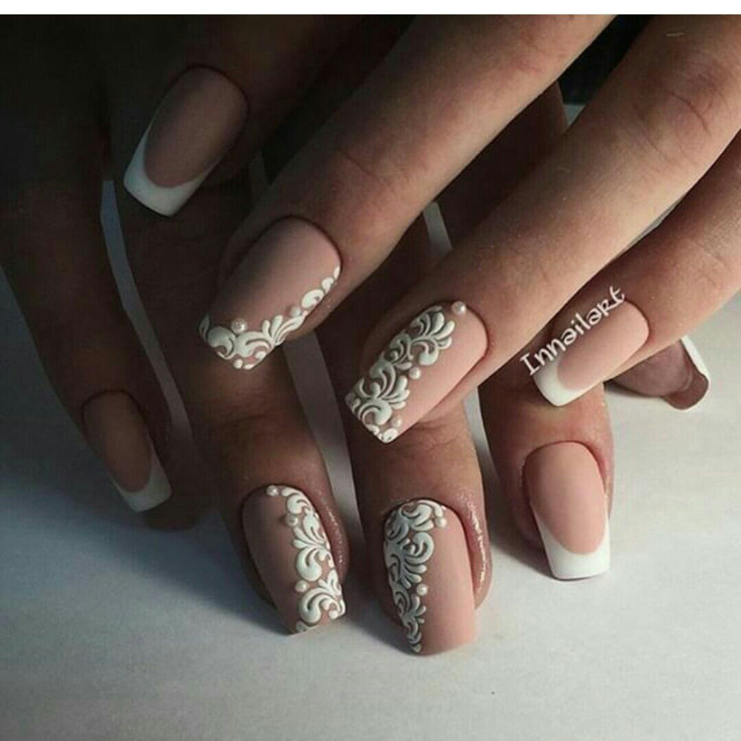 Красивые ногти дизайн гель 68