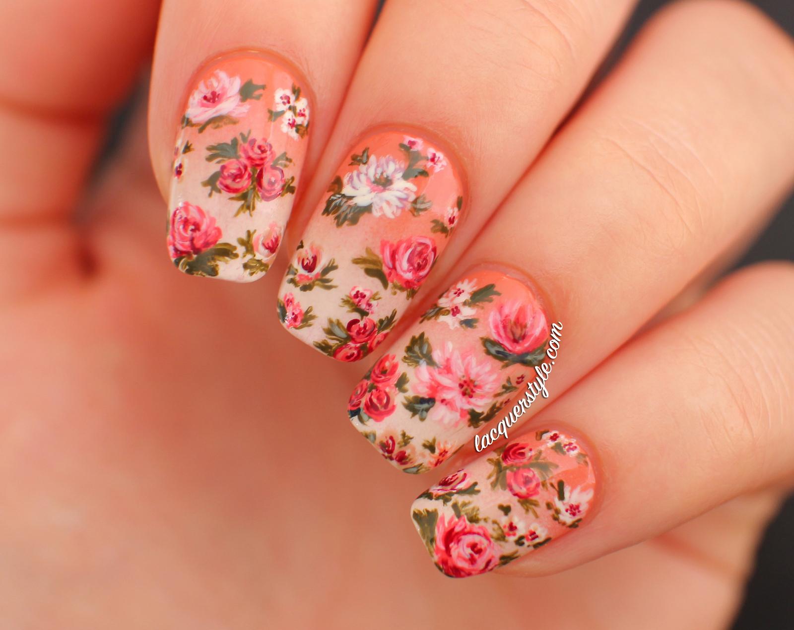 Дизайны ногтей с цветами фото