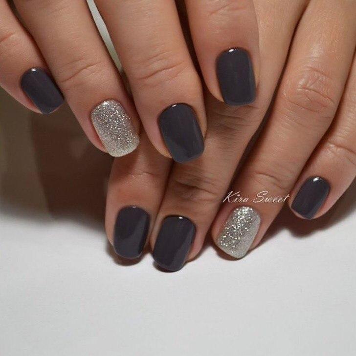 Темный ногти дизайн фото