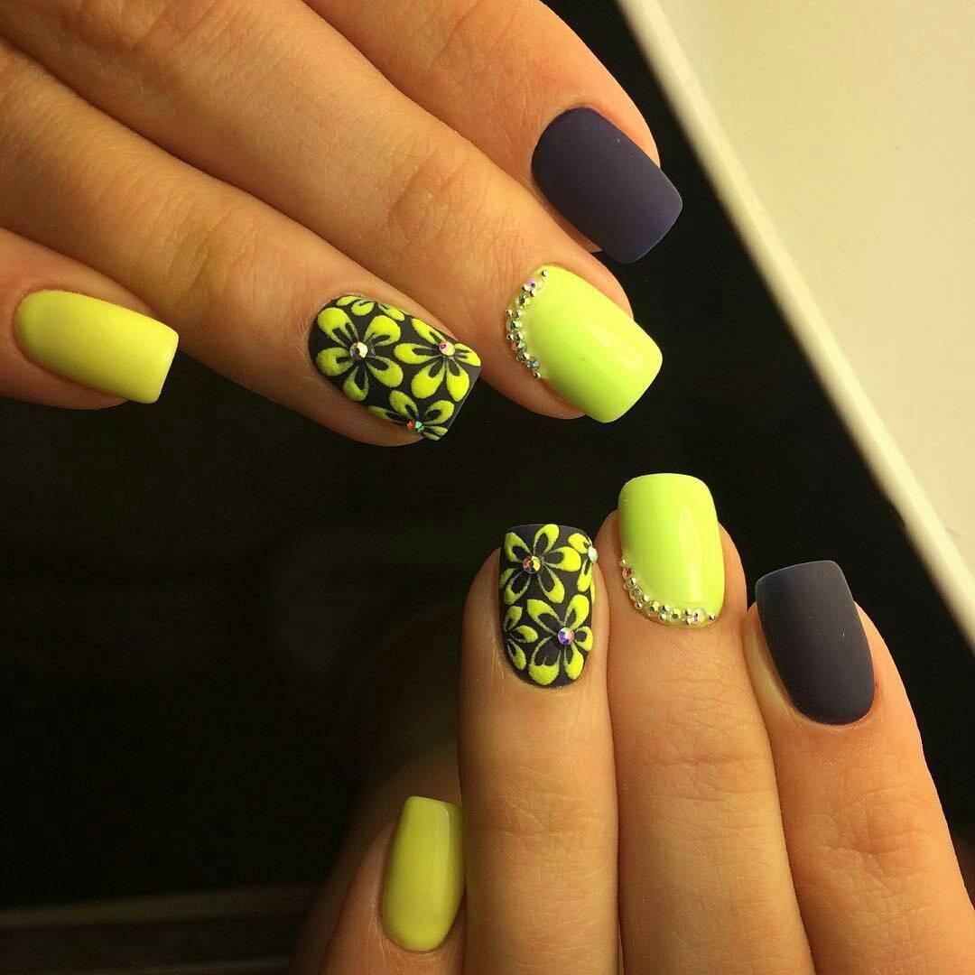 Дизайн ногтей фото желтый цвет