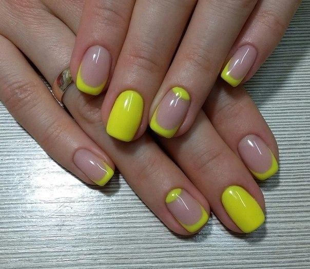 желтый френч фото с рисунком
