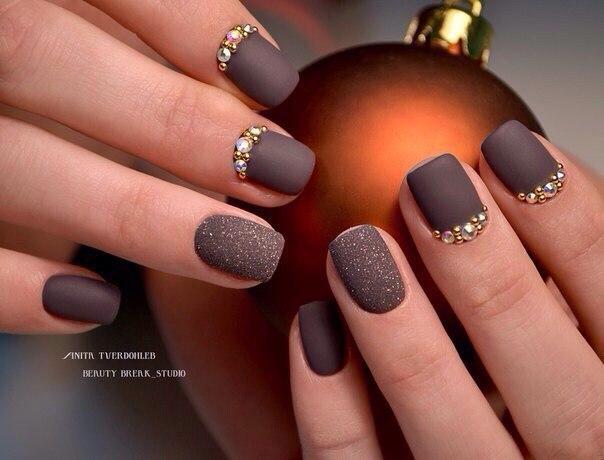Дизайн ногтей коричневый цвет фото
