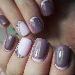 Дизайн ногтей обратный френч фото