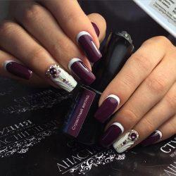 Идеи фиолетового маникюра фото