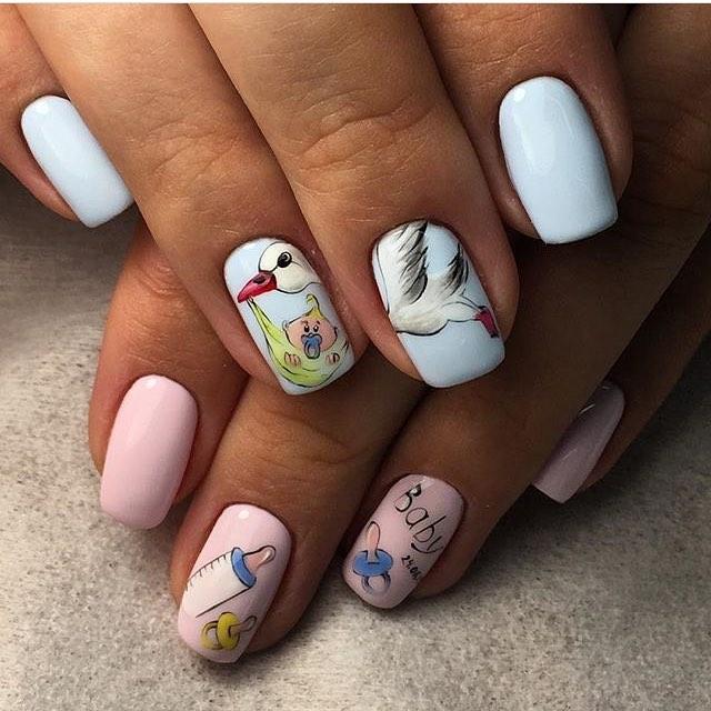 Рисунки на ногтях для беременных фото 45