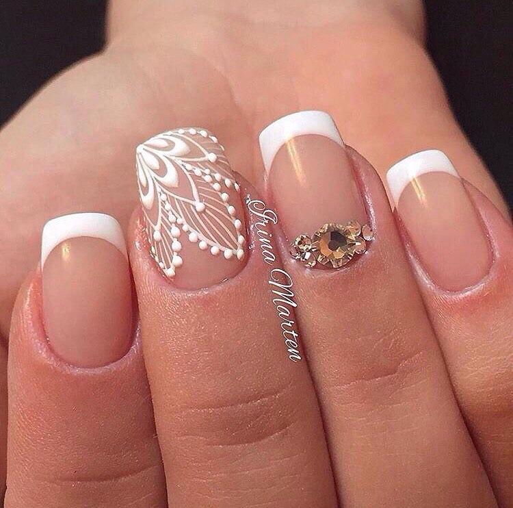 кружево дизайн ногтей фото