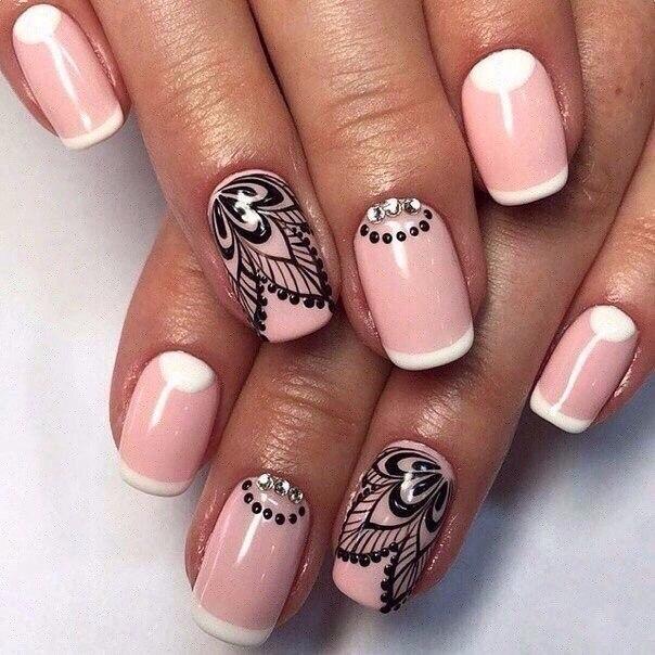 Розовые гель лаки ногтей 68