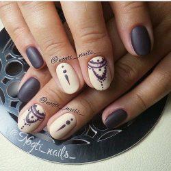 Маникюр на круглые ногти фото дизайн