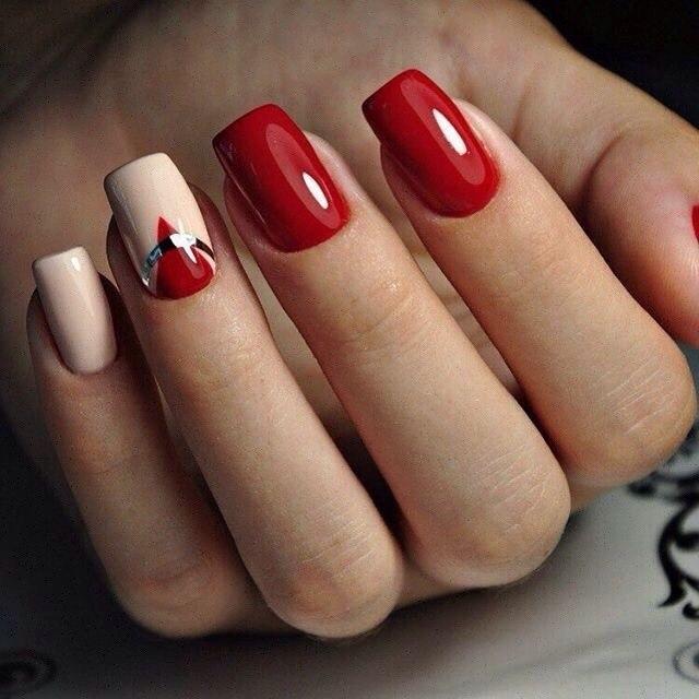 Дизайн красных ногтей 2017 фото новинки весна