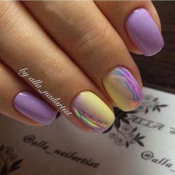 Дизайн два цвета ногтей