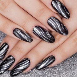 Дизайн черных ногтей фото