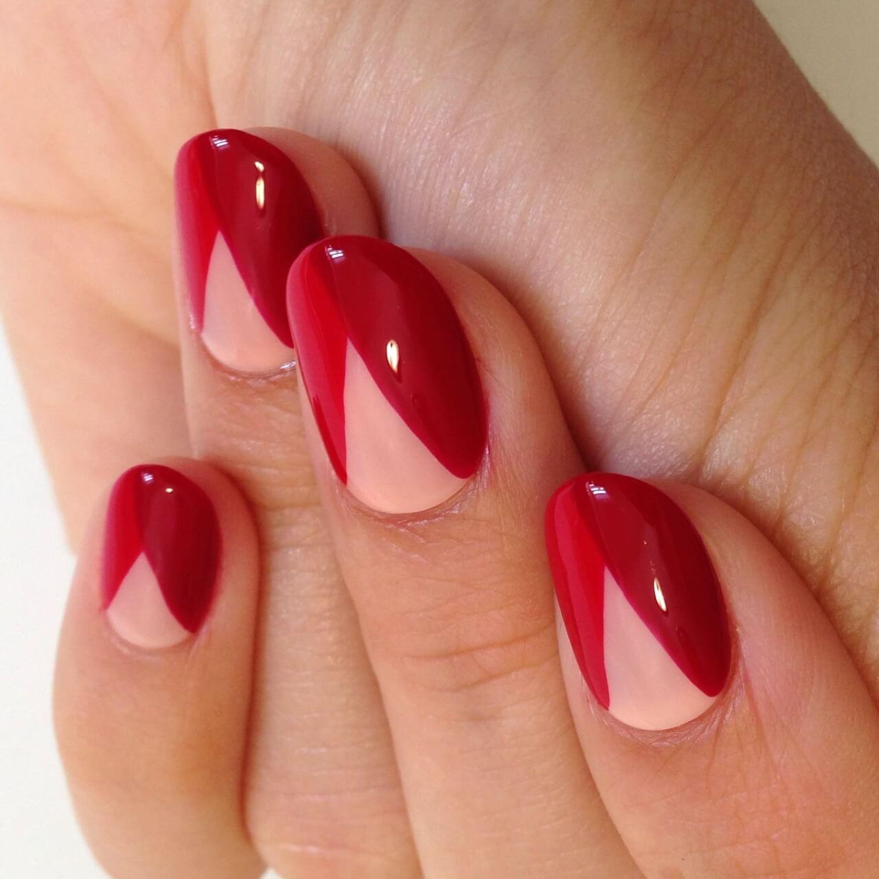 Дизайн ногтей красных оттенков