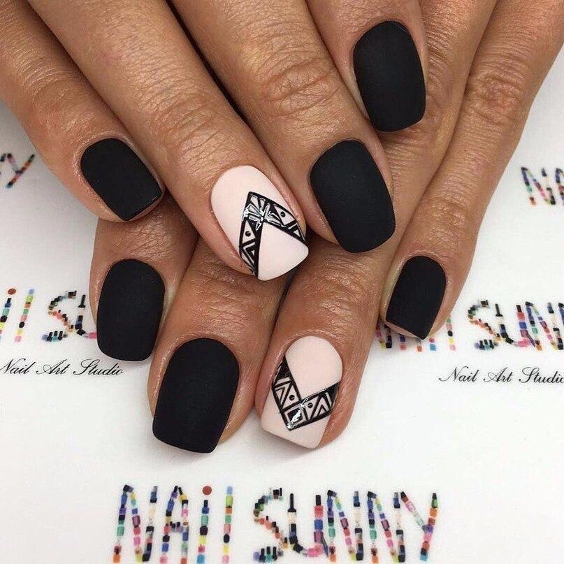 Фото черно белый дизайн ногтей 2017-2018 новинки