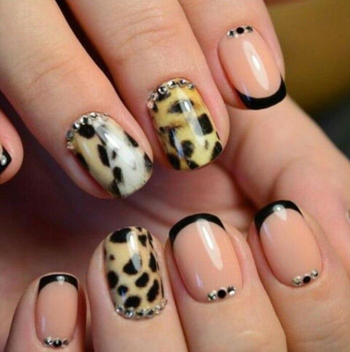 дизайн леопардовый ногтей фото