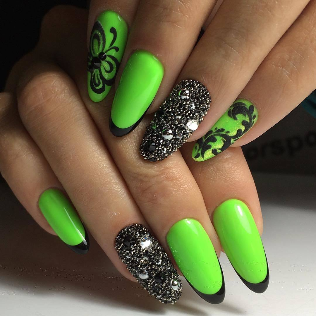 Яркий шеллак - фото идей дизайна ногтей - Best Маникюр 95