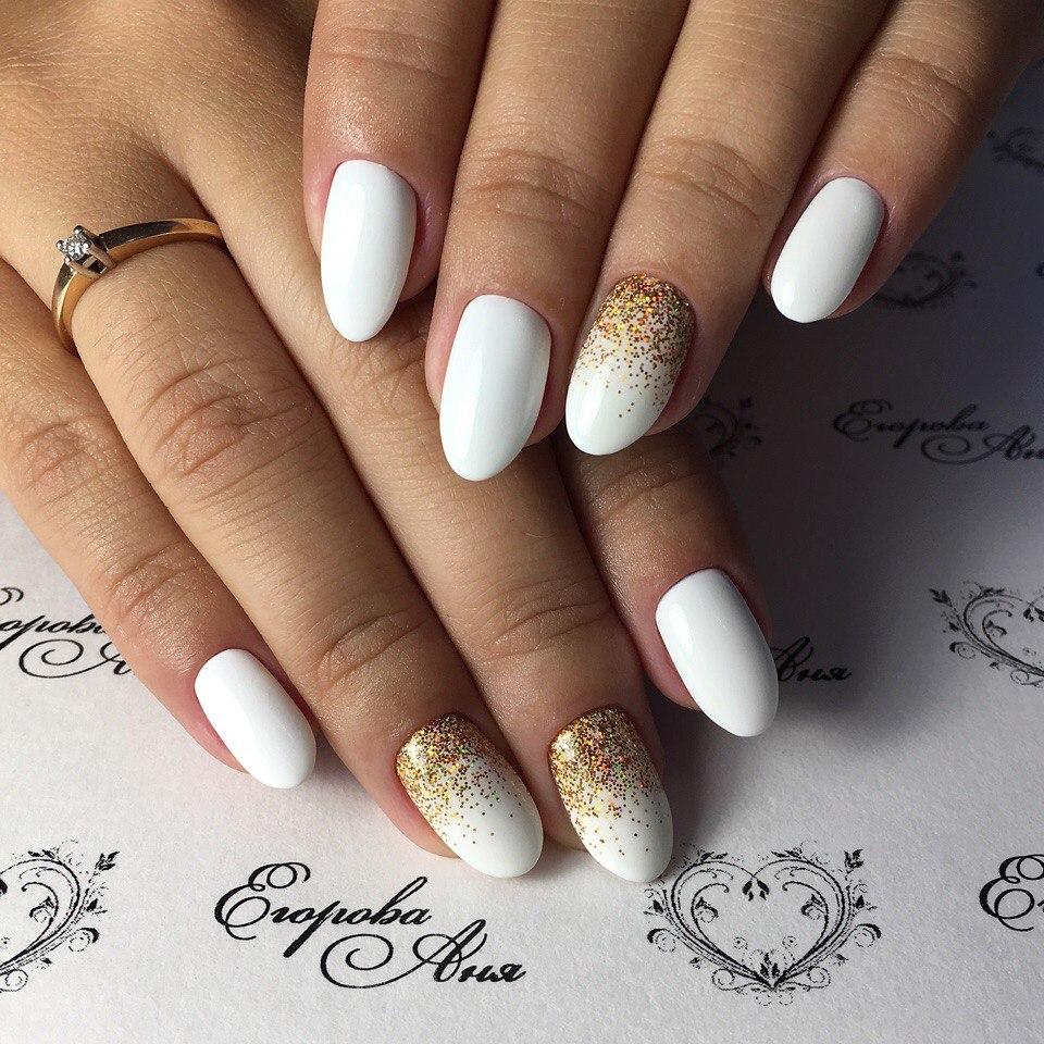 Дизайн белых ногтей 2017